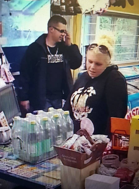 Amber Nowacki, suspected of an Oct. 6 robbery at the Hatzic Prairie Store, has been arrested. A male suspect is still at large.