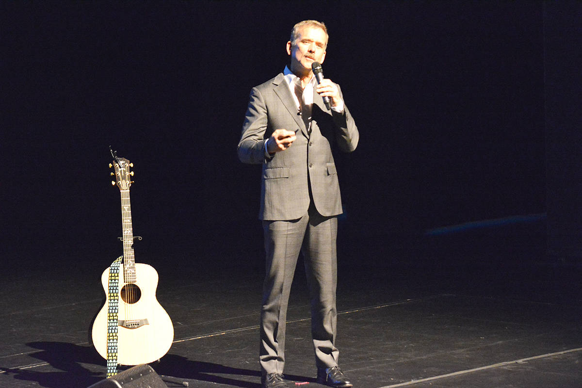 FILE — Retired astronaut Chris Hadfield presented the history of Canada for his Canada 150 tour at the Vernon and District Performing Arts Centre in May. (Carli Berry/Black Press)