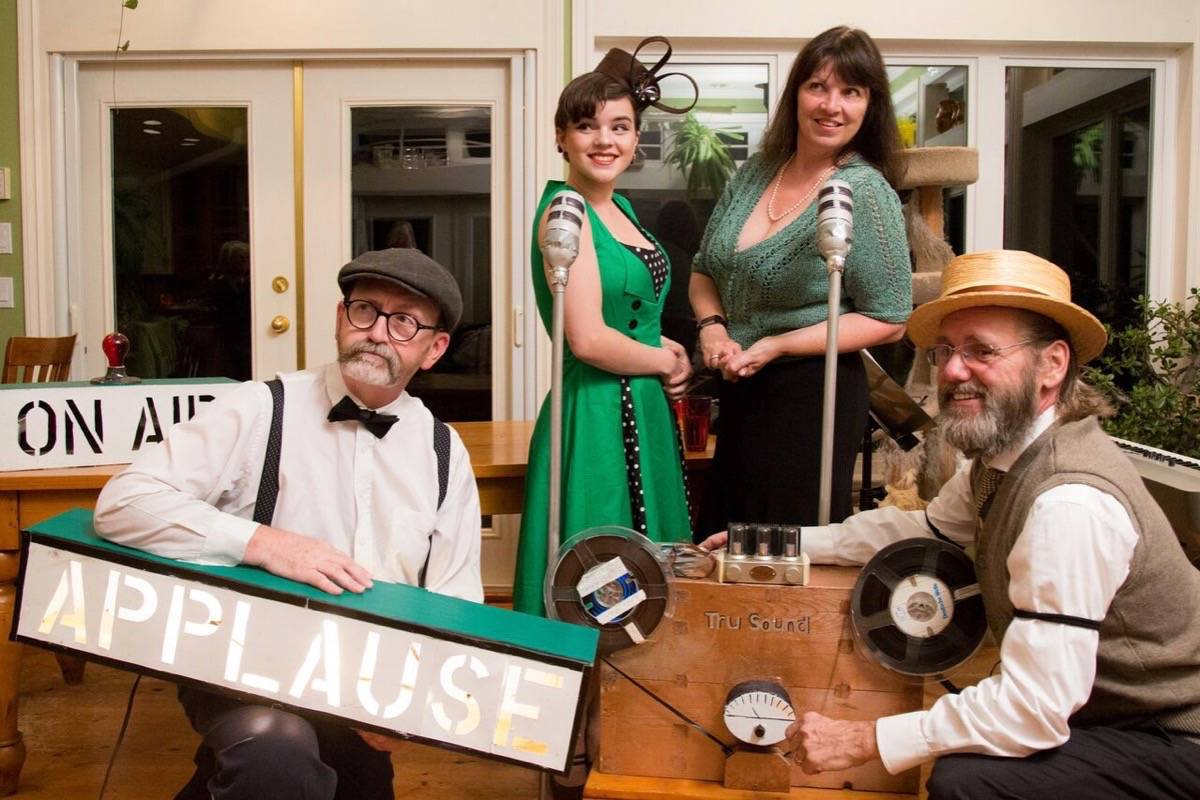 Bard in Valley is performing two 1940s radio plays on the stage Oct. 24. Pictured are (from left) Shawn McGrory, Ahnika Barber, Shannon Lee and Jim Garnett.                                Submitted photo