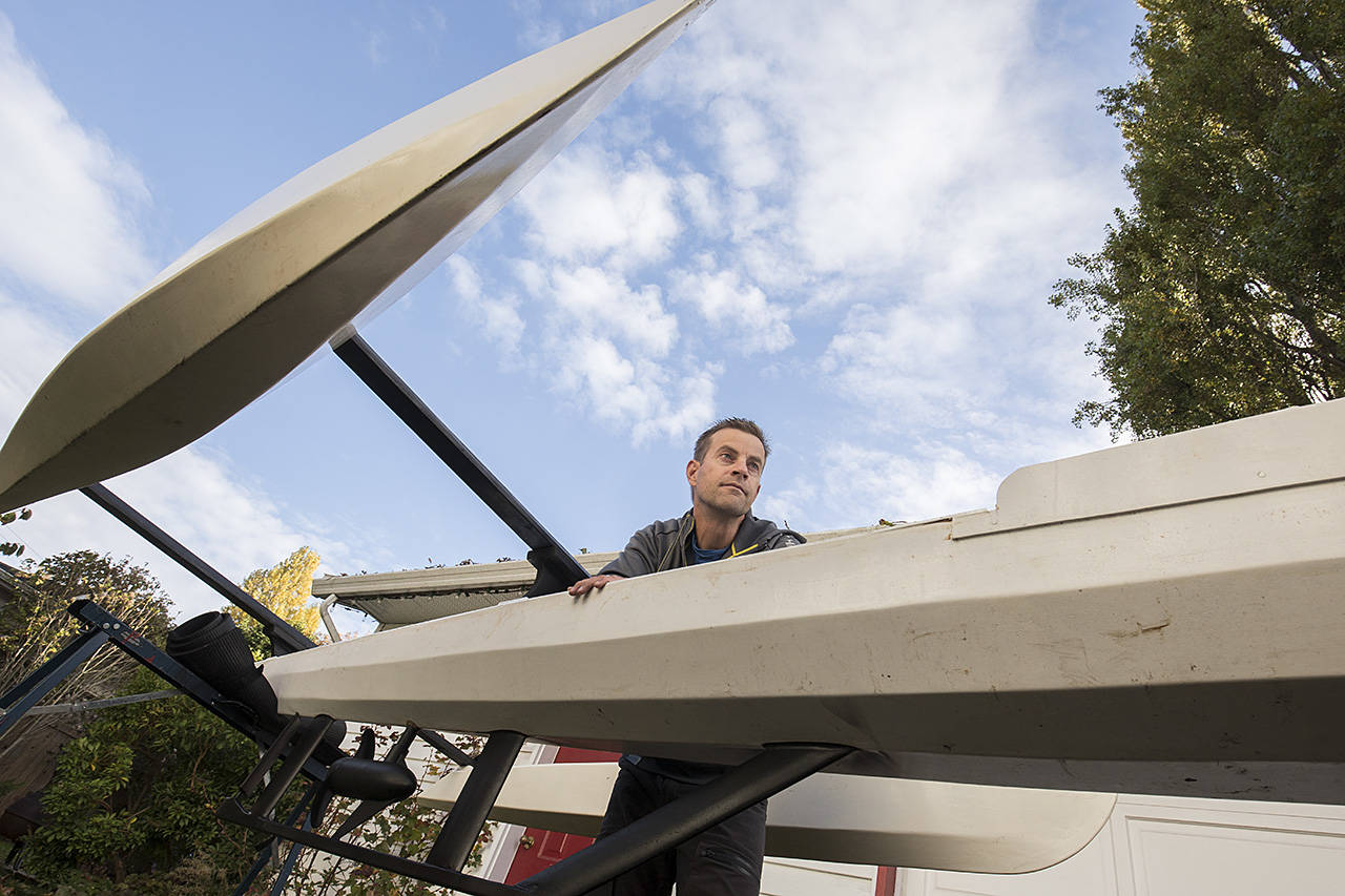 Colin Angus is helping create an automated, uncrewed boat he hopes will sail across the Atlantic Ocean. (Arnold Lim/Black Press)