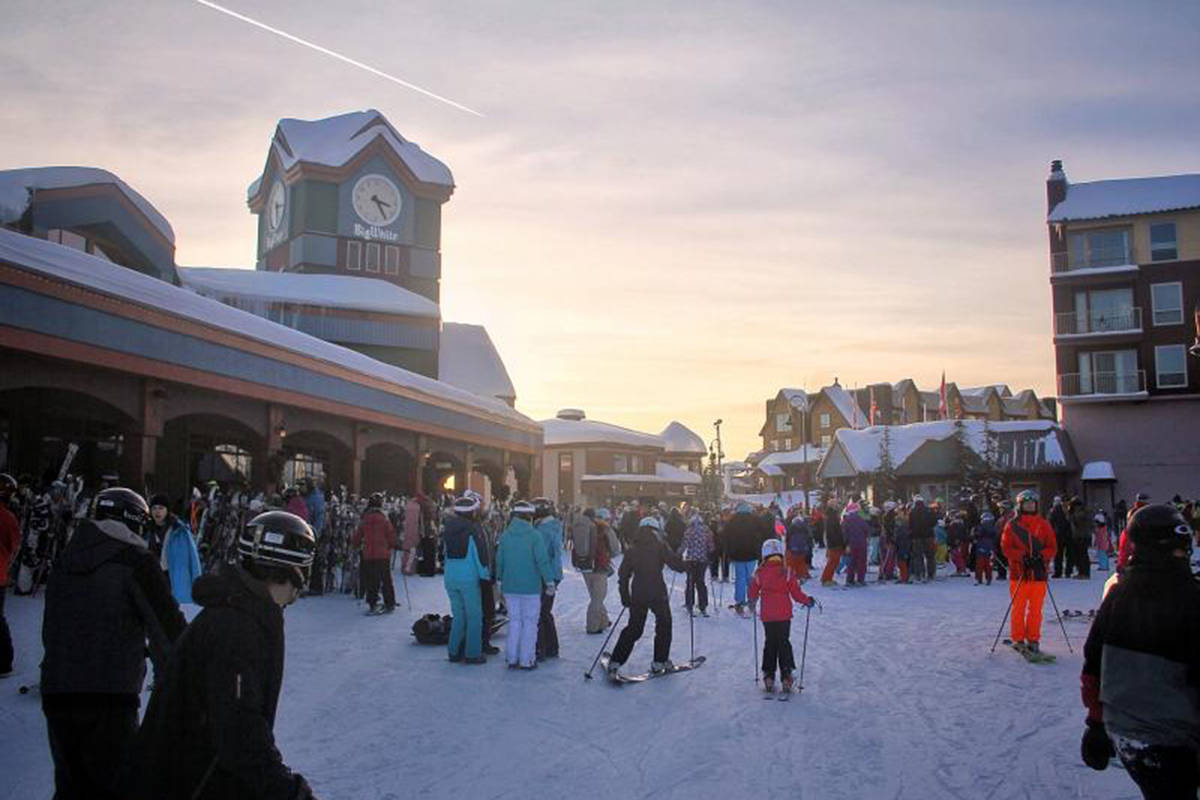 Village centre at Big White Ski Resort. Photo credit: Contributed