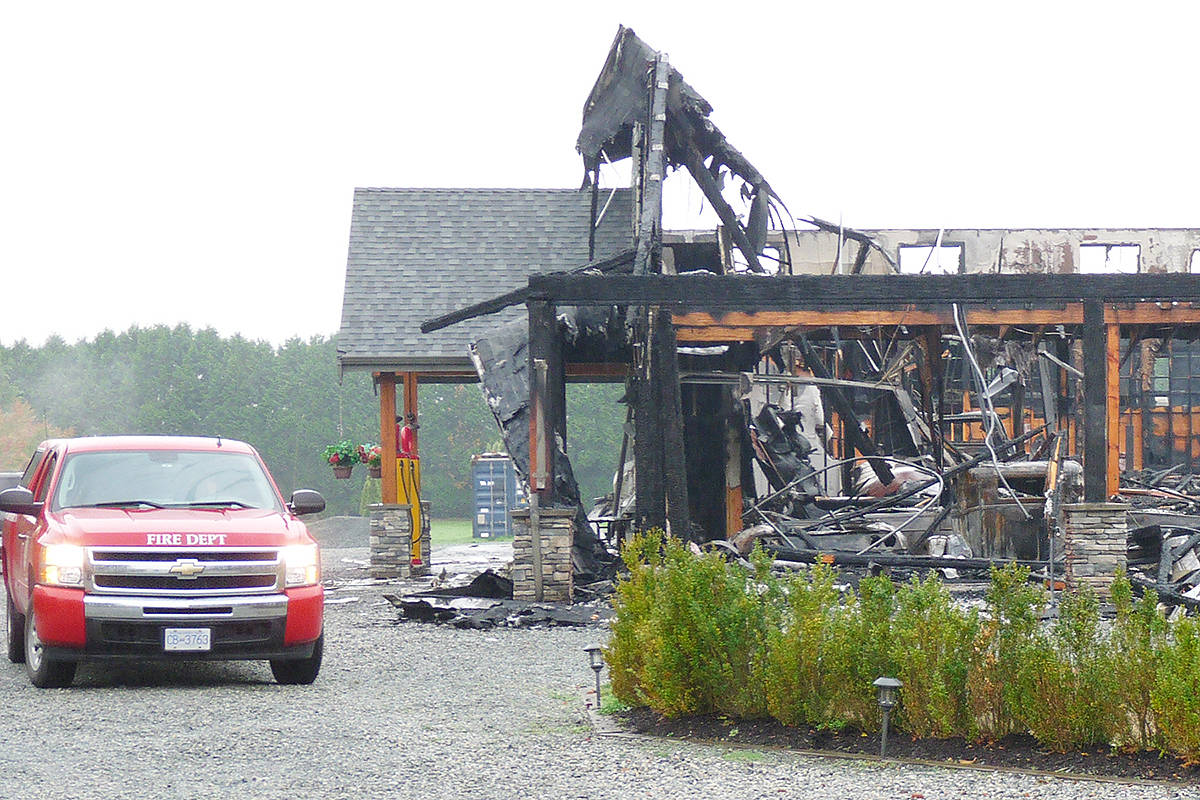 Investigators were at the scene of the fire that turned the shop that housed a large private collection of collectible cars into twisted wreckage and destroyed more than 30 high-end vehicles worth millions of dollars. Dan Ferguson Langley times