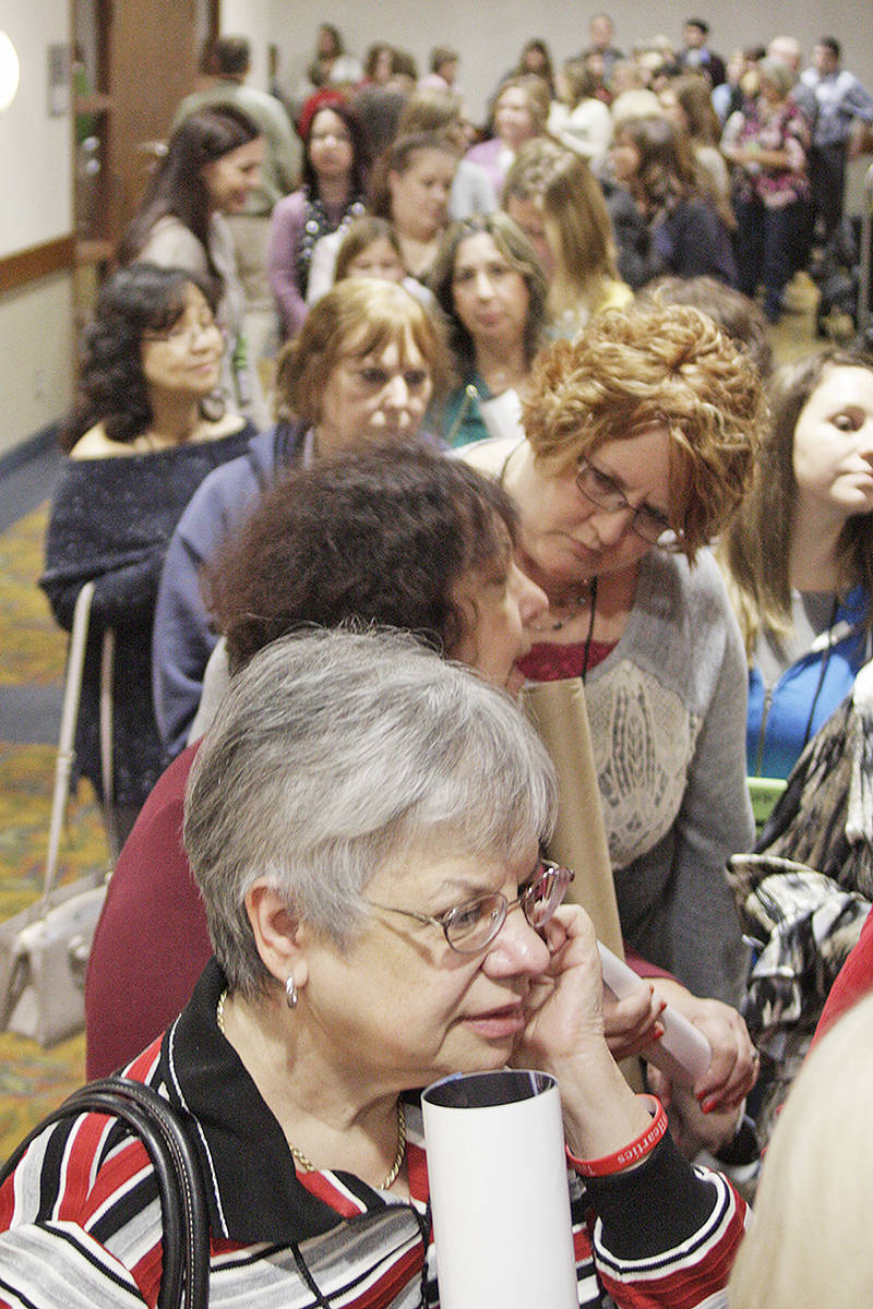Hundreds of When Calls The Heart fans lined up at in the Cascades convention centre in Langley City for an opportunity to meet the stars of the Hallmark series face-to-face Saturday. Dan Ferguson Langley Times