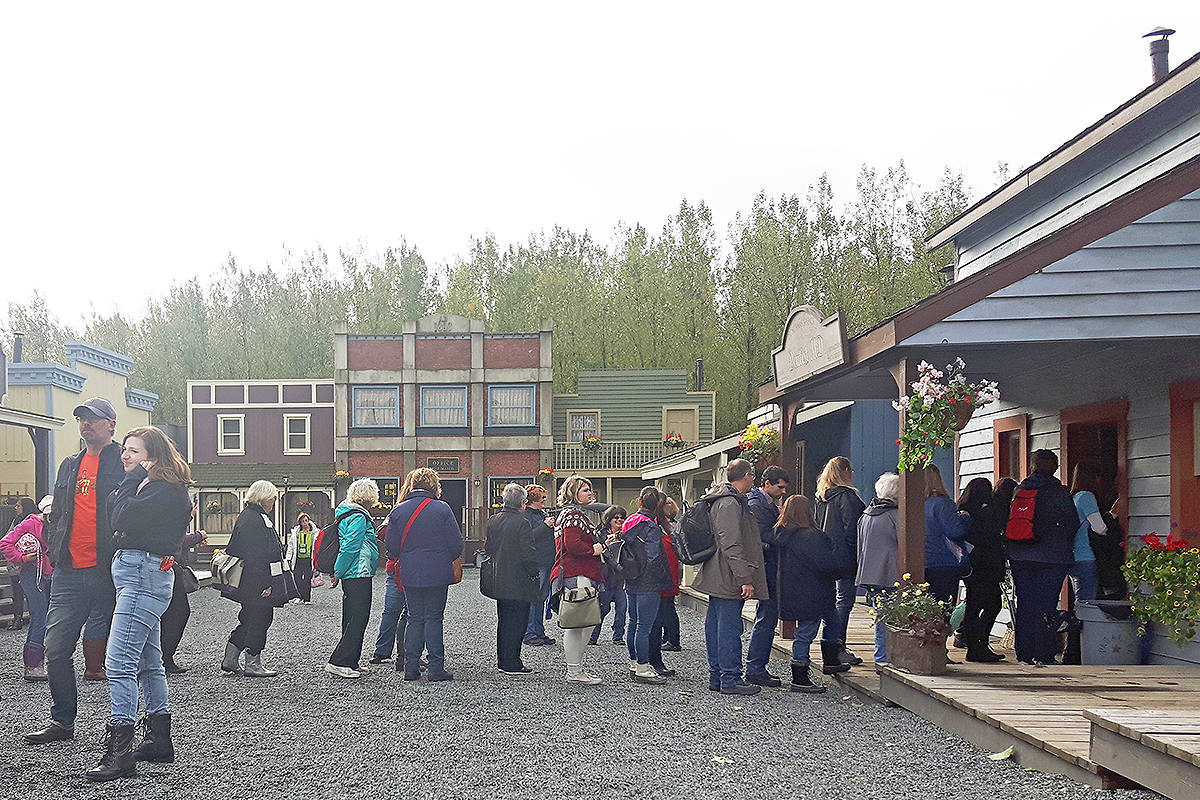 """Hearties"" line up for a look inside one of the outdoor Langley sets of their favourite series. Dan Ferguson Langley Times"