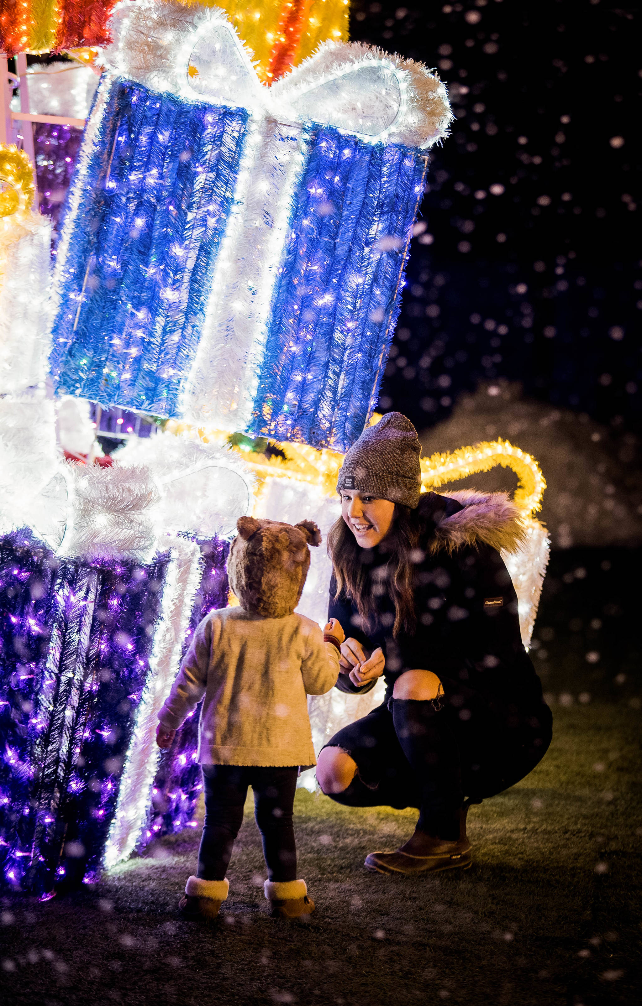 The Glow website says kids can help Santa locate his lost presents scattered throughout the light gardens while parents amble through the Christmas market. Submitted photo