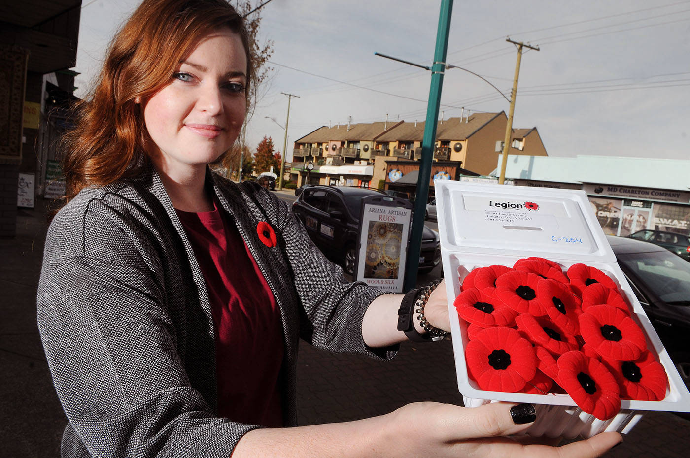 Distributing poppy boxes will help deliver support to B C