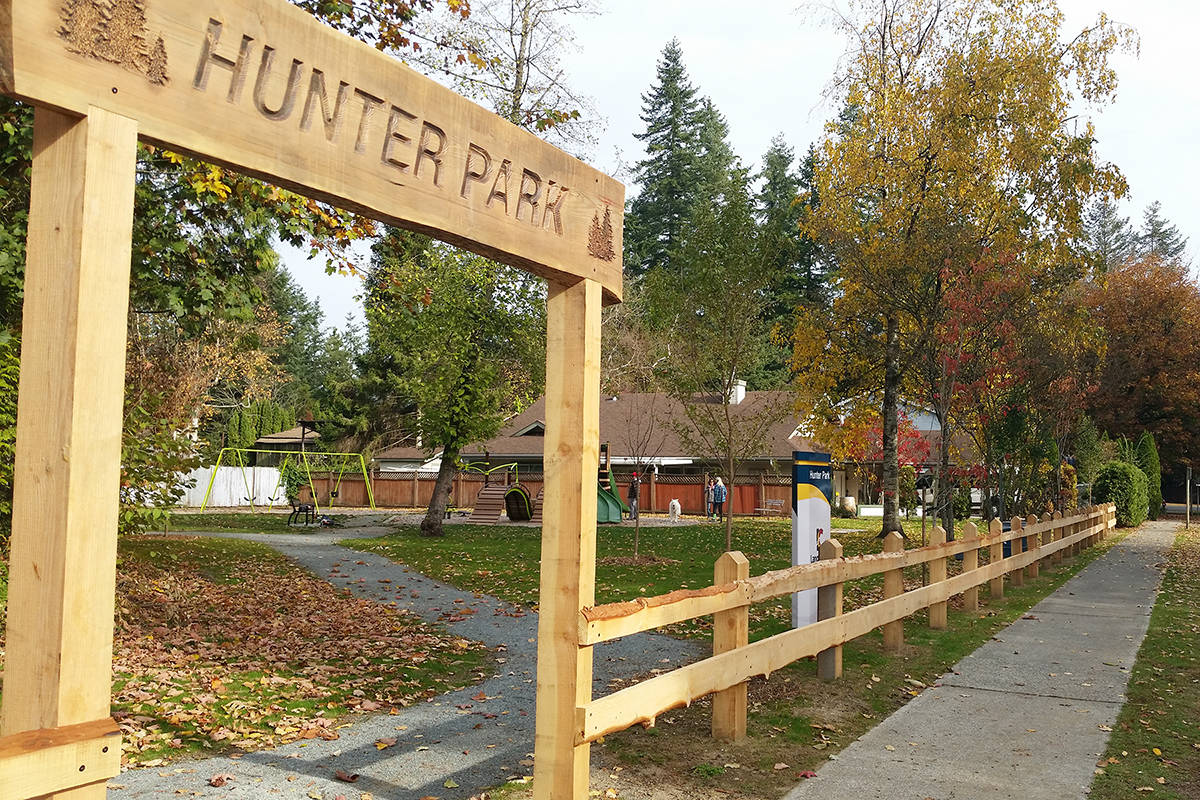 The new fence at Hunter Park is made from trees that had to be cut down last year due to an outbreak of Laminate Root Rot. Supplied