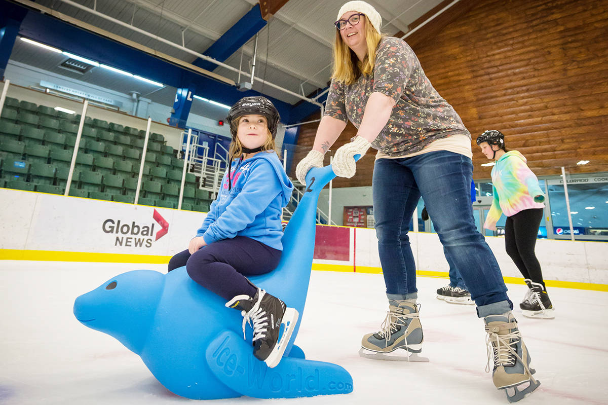 Skaters of all ages are enjoying the Bobby the Seal, a safe and fun new skating aid that was introduced this year at the Township of Langley's George Preston Recreation Centre.