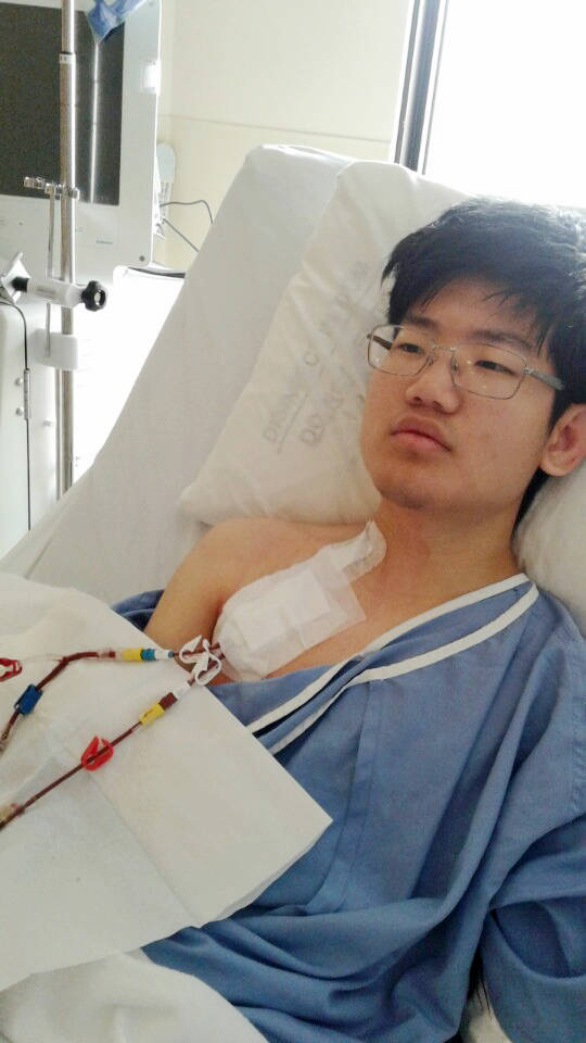 Paul Chung was diagnosed with aHUS in August, 2017. Submitted photo