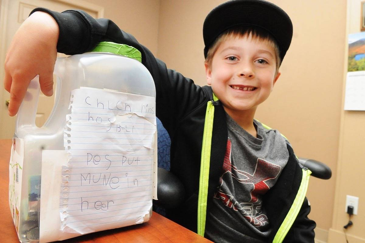 VIDEO: B.C. boy collecting funds for Children's Hospital