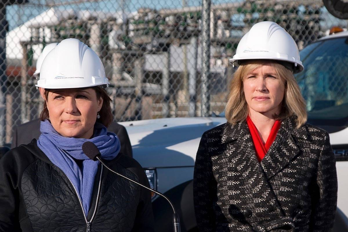 Former premier Christy Clark and former B.C. Hydro CEO Jessica McDonald, November 2015. (Black Press files)