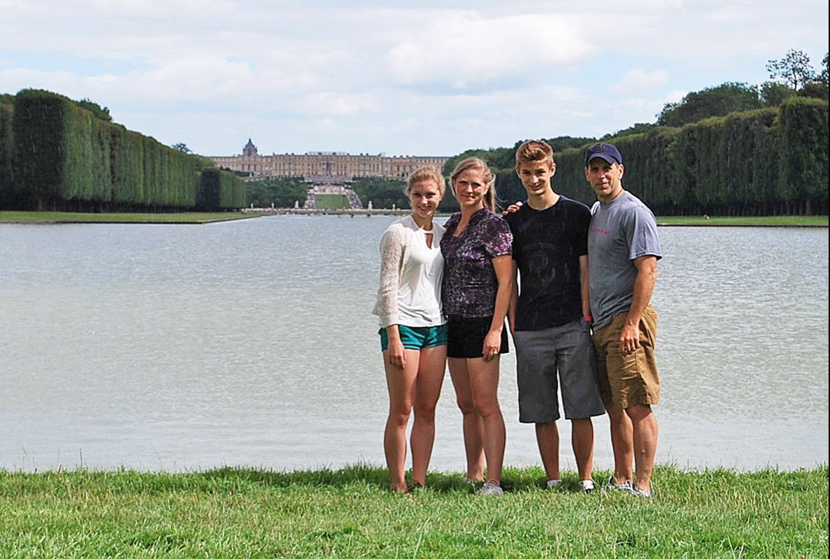 (Contributed)                                The Serr family at Versailles on a trip to Europe.