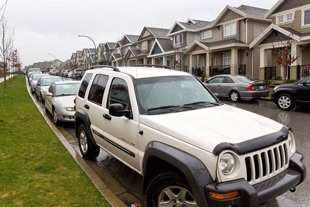 Now-Leader file photo                                Surrey's Clayton neighbourhood has been plagued by parking — or lack thereof — for years.