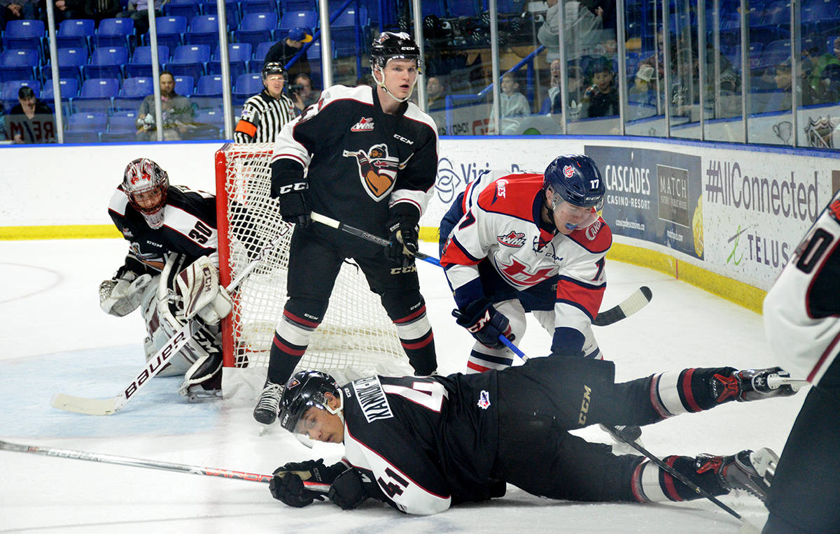 Vancouver Giants Alex Kannok Leipert against the Lethbridge Hurricanes, Langley Events Centre on Nov. 22. Gary Ahuja Langley Times