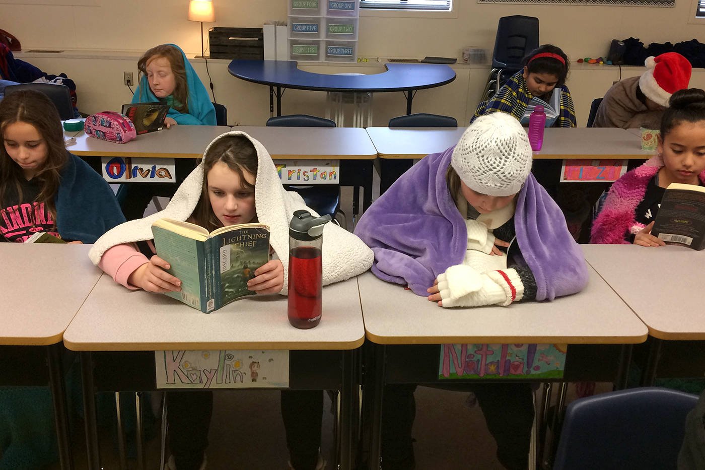 Chilliwack students experience cold day in class for charity
