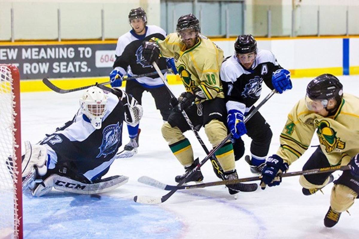 The Surrey Knights went home on Friday night after finally tasting some victory during their 2-0 win against the Abbotsford Pilots. (File photo)