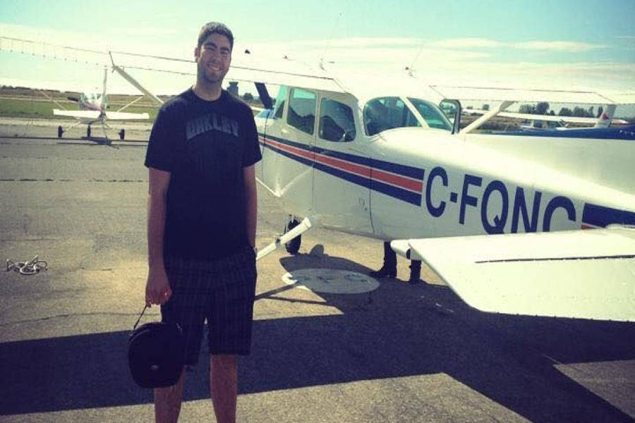 Missing Spruce Grove pilot Dominic Neron. Photo credit: Contributed
