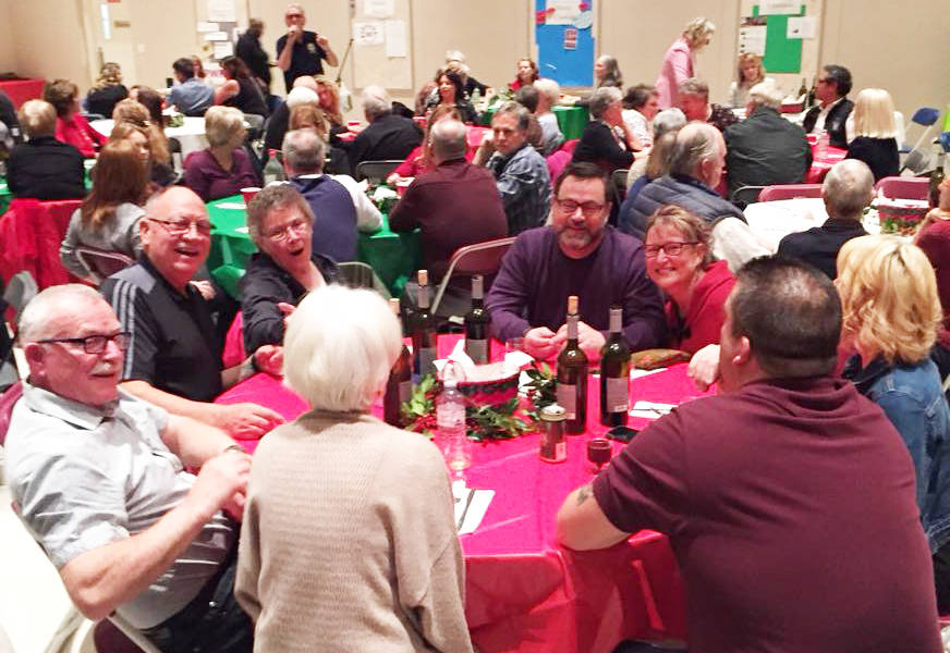 Diners packed the hall at the Aldergrove Rotary Club's Past Night dinner last week.