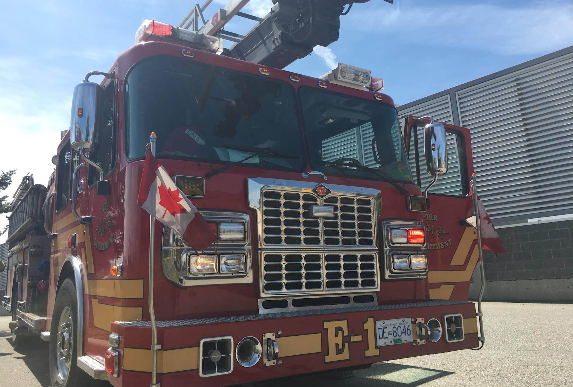 Kelowna Fire Department file photo. Image credit: Carmen Weld