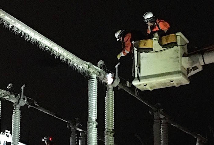 BC Hydro still working to restore electricity following ice storms