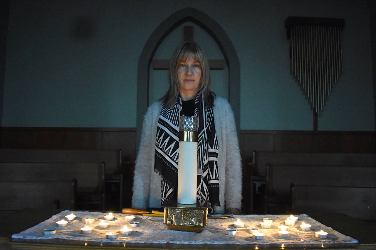 Lori Megley-Best, minister at Cloverdale United Church, holds a Christmas service for those who are greiving, suffering, or lonely during the holiday season. (Grace Kennedy photo)