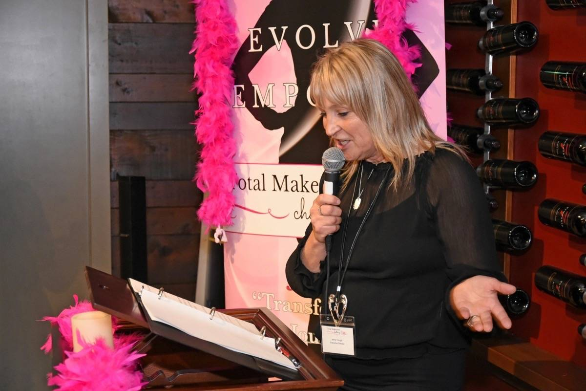 Shape Your World Society president Jenny Clough speaks at an official launch for the 2018 event at Township 7 Winery. Miranda Gathercole Langley Times