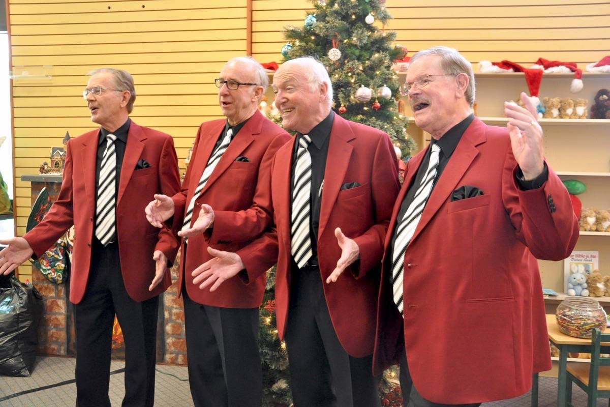 The First Capital Chorus performing for the Langley Christmas Bureau in 2015. Langley Times file photo