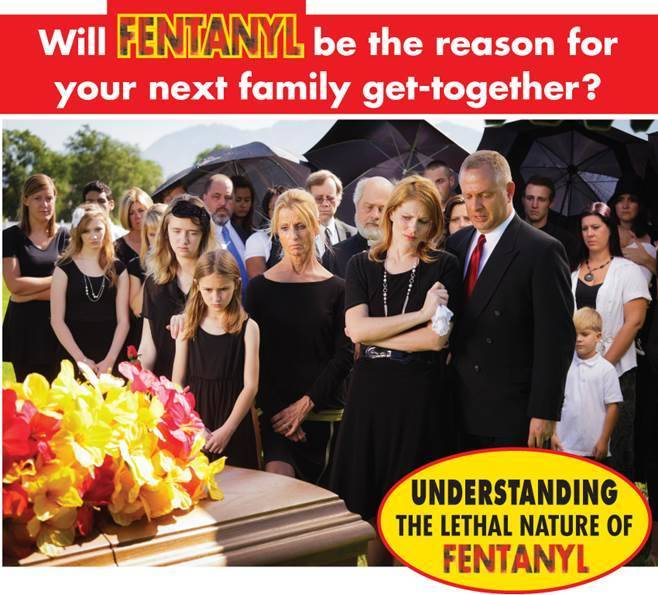 Funeral chain creates visual campaign to show dangers of fentanyl
