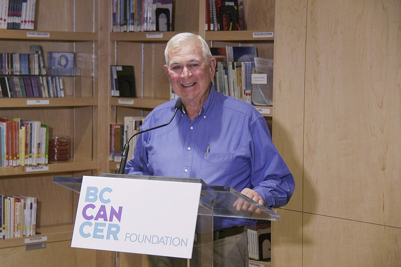 Gordon Heys made a donation of more than $2-million to the B.C. Cancer Foundation. (Arnold Lim/Black Press)