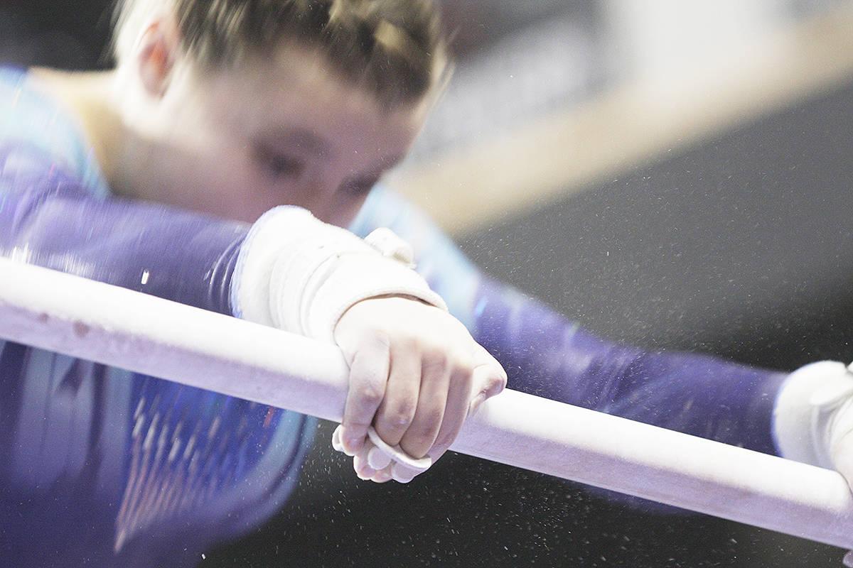 Competitors go for gold at gymnastics meet