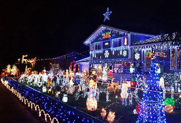 """Submitted photo Enter your decorated home in the """"Light-Up Aldergrove"""" contest."""