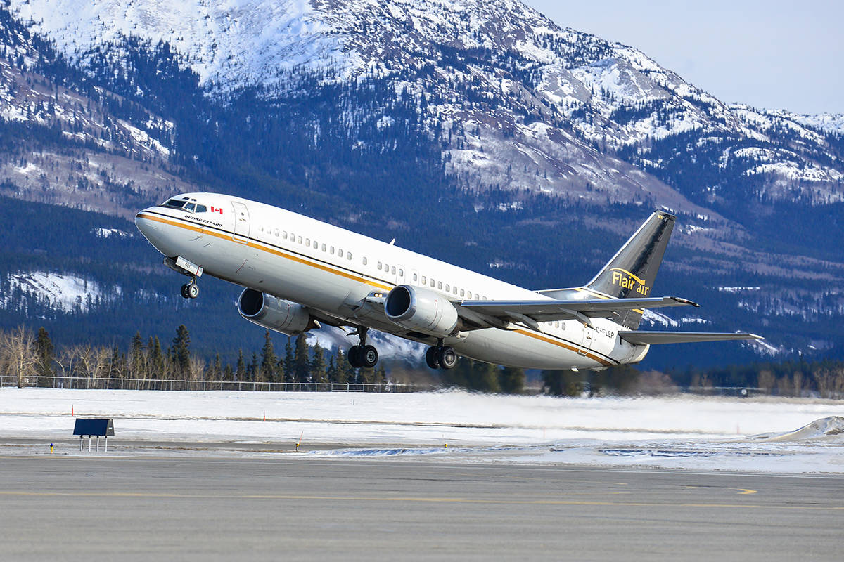 Kelowna's Flair Airlines has announced a permanent 10 Per cent discount for members of the Canadian Armed Forces, veterans, RCMP members and their immediate families.—Image: Flair Airlines