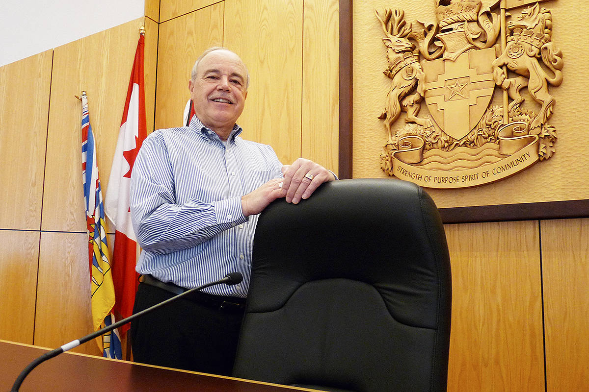 Ted Schaffer is giving up the Langley City mayor's chair. He announced he won't be running for re-election in 2018. Dan Ferguson Langley Times