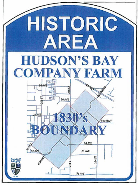Proposed signage to be installed in commemoration of the Hudson's Bay Company Farm.