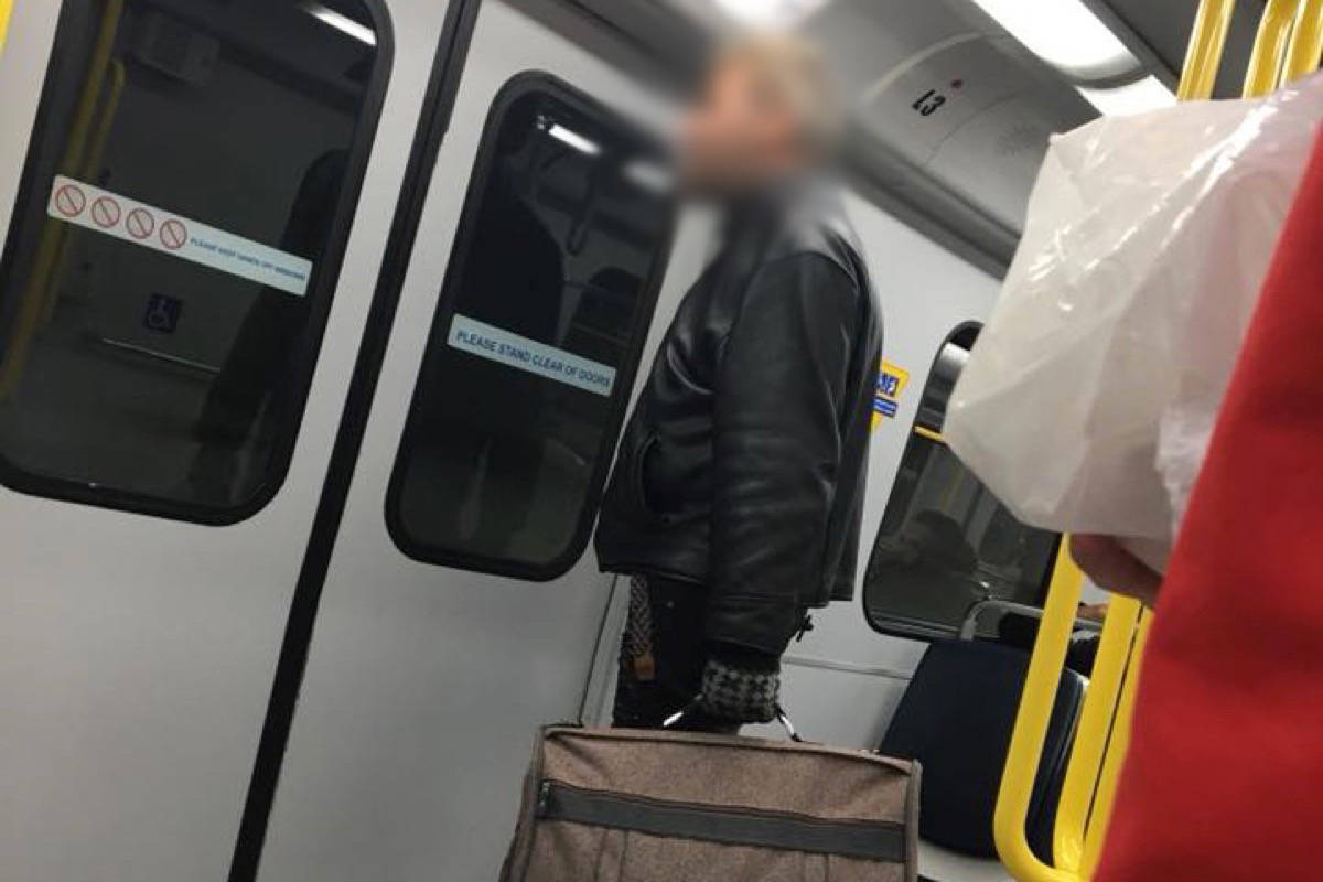 Noor Fadel said that the man pictured her assaulted her on the Canada Line on Monday. (Noor Fadel/Facebook)