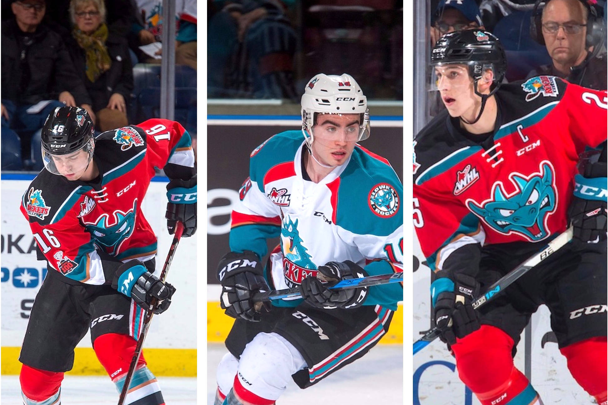 Kole Lind, Dillon Dube and Cal Foote will all be headed to St. Catharines, ON next week for the Canadian junior team's selection camp. (Marissa Baecker/Shoot The Breeze)