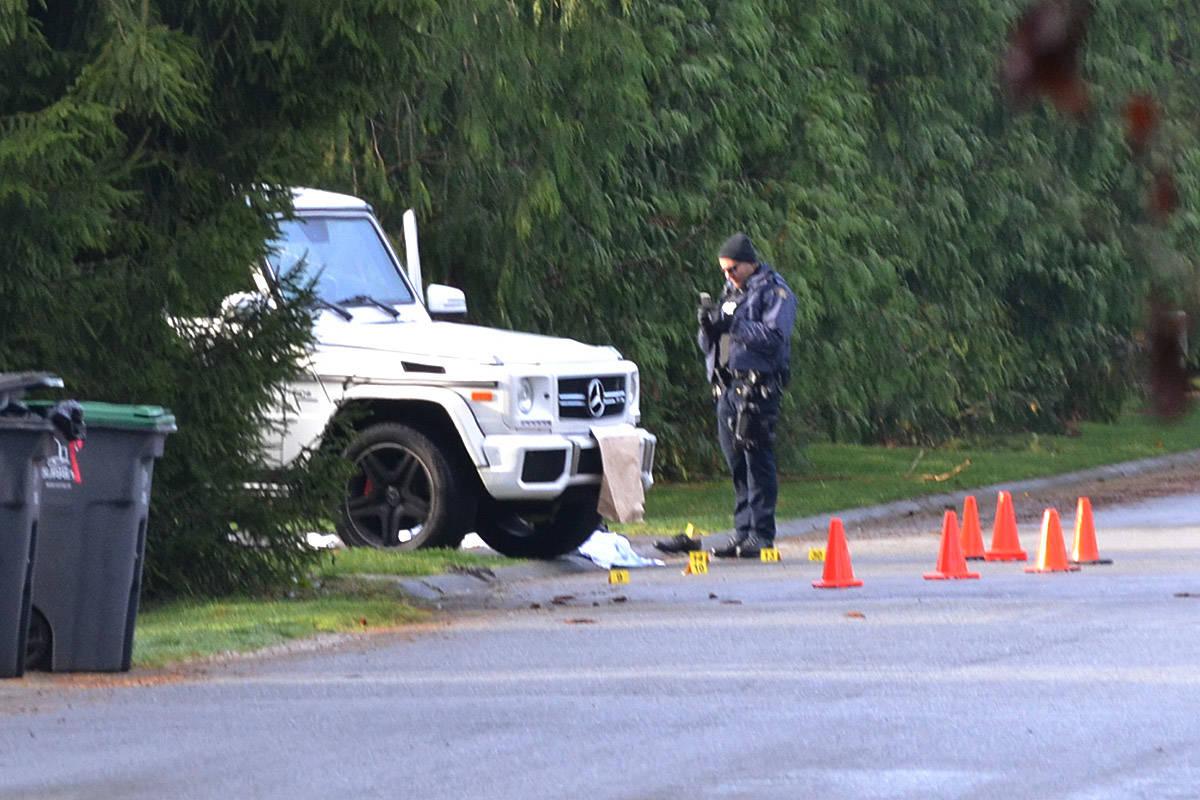 VIDEO: Man shot in South Surrey Friday morning