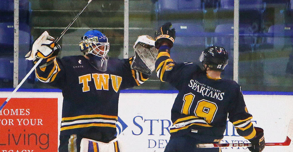 The Trinity Western University Spartans ended 2017 on a five-game winning streak. TWU Athletics photo