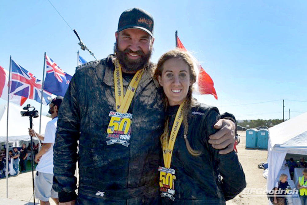 Competing in the Baja 1000 in Mexico was a dream come true for Langley driver Jason Vandenborn, with wife and navigator Kendall Ballantine.