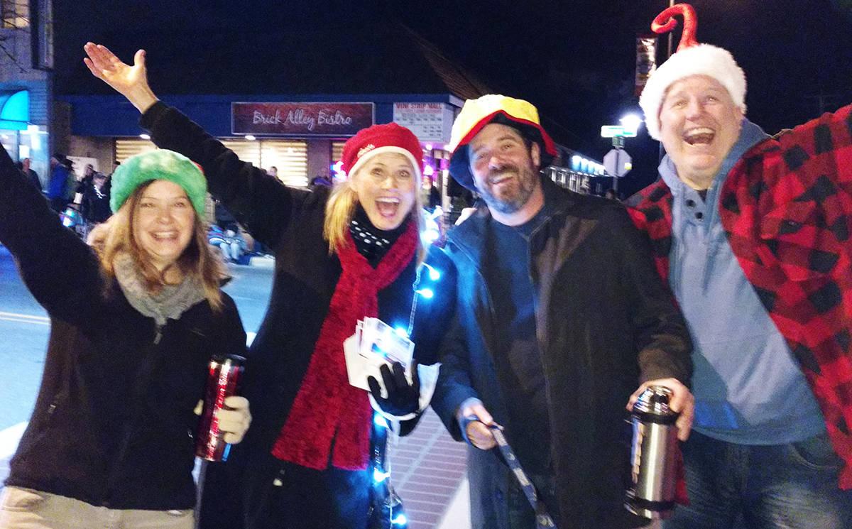 KURT LANGMANN PHOTO Shouting out joy at the Aldergrove Christmas Parade.