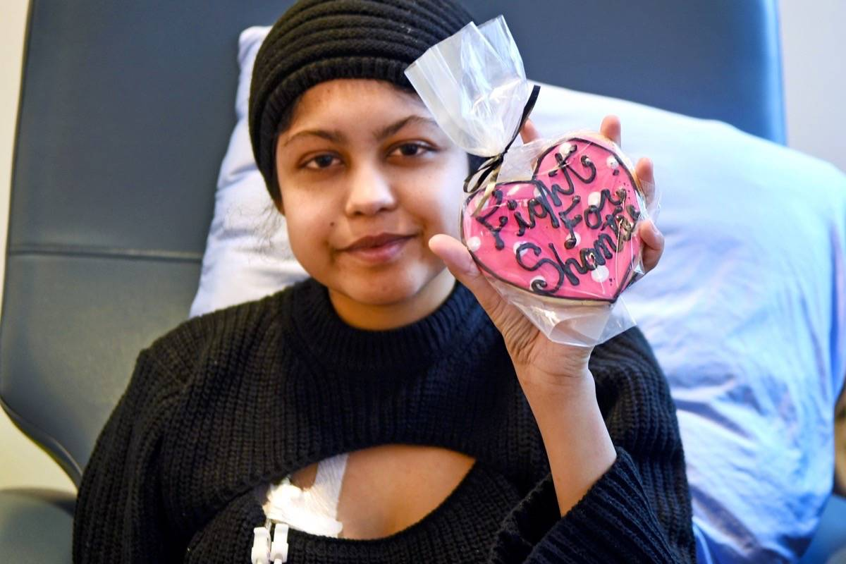 Shantee Anaquod's aunt in Alberta made special cookies for her to hand out to the staff at Vancouver General Hospital. Miranda Gathercole Langley Times