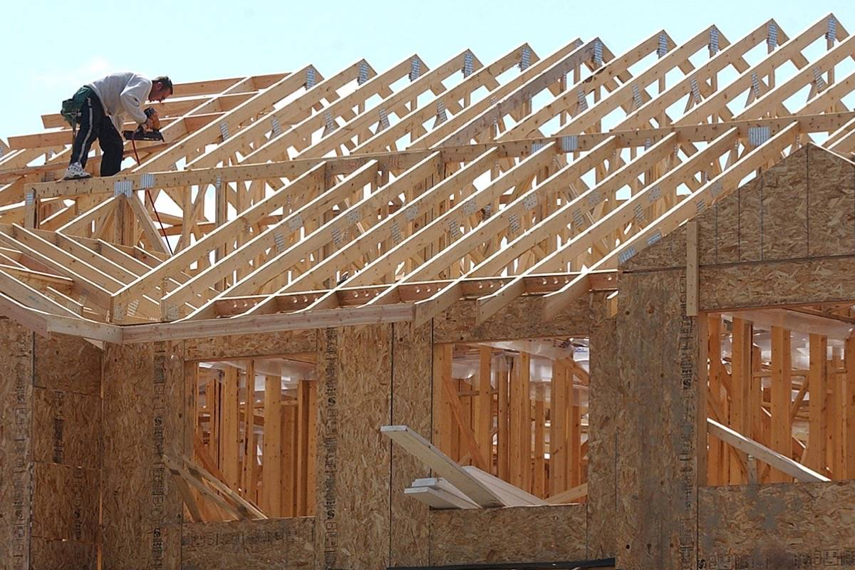 Townhouse construction in the Lower Mainland. Premier John Horgan wants to expand supply of family residences and rental housing across the province. (Black Press files)