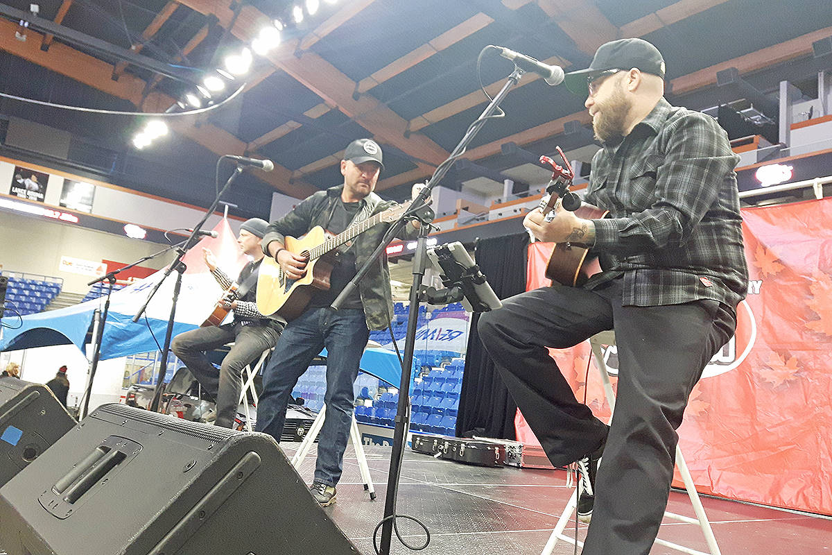 Bobby Willis and Friends were one of several live music acts to perform at Basics for Babies. Dan Ferguson Langley Times