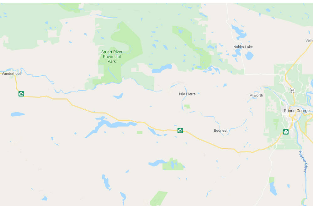 Deadly accident closes Hwy 16 west of Prince George