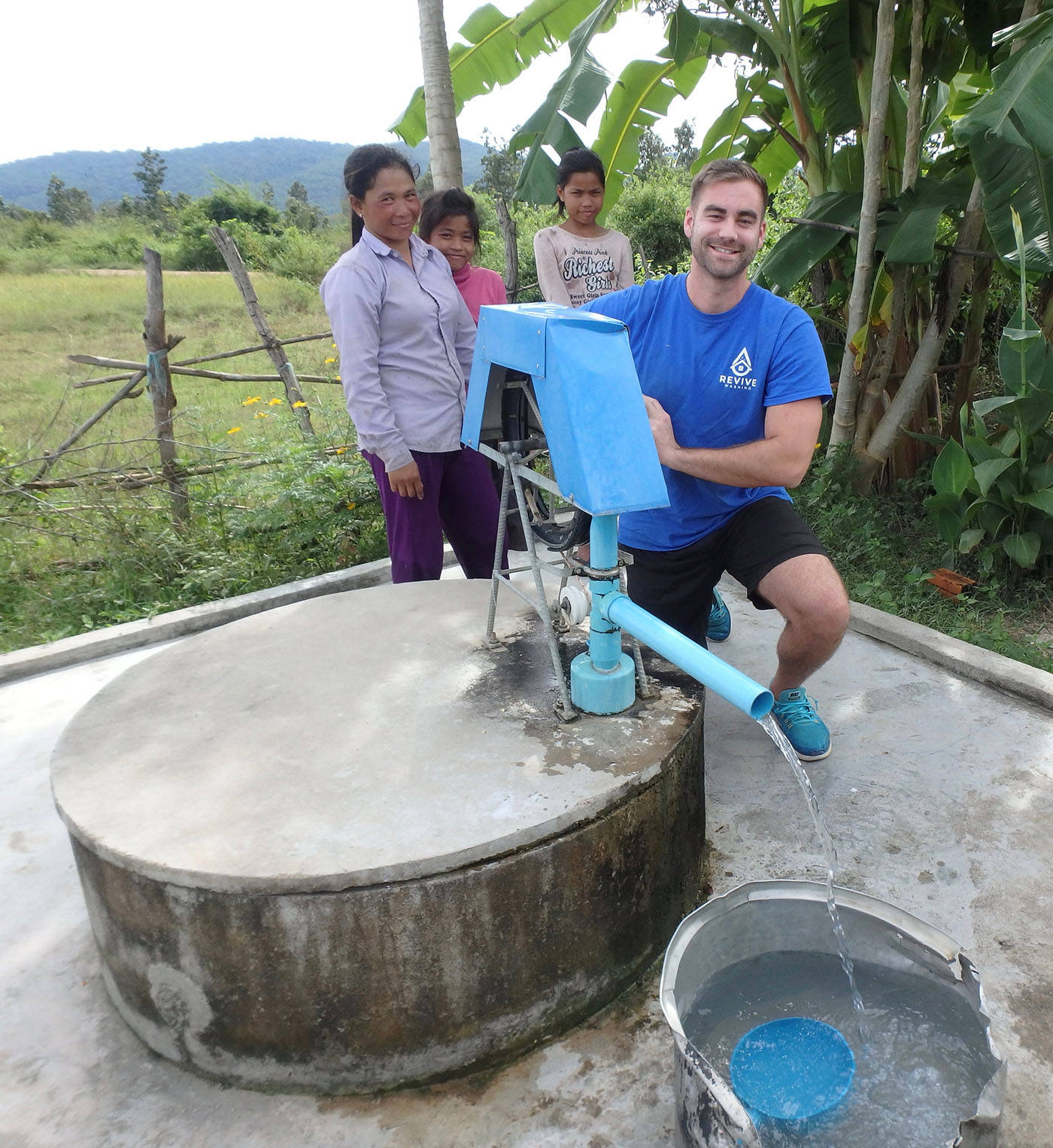 Revive Washing owner David Moerman visited Pursat, Cambodia, where he sponsored two water wells for local families there.