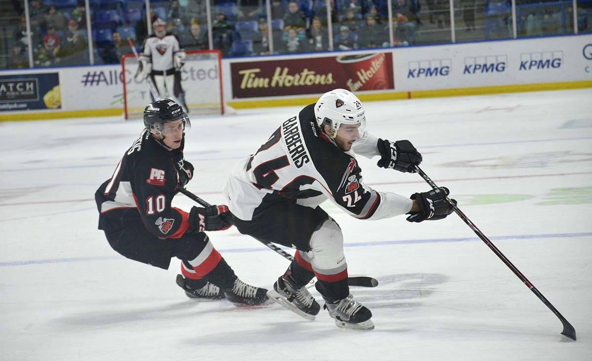 Vancouver Giants vs Prince George, WHL action at Langley Events Centre Jan. 1 Vancouver's Matt Barberis. Gary Ahuja Langley Times