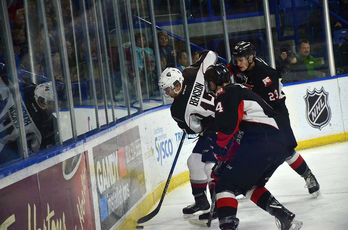 Vancouver Giants vs Prince George, WHL action at Langley Events Centre Jan. 1 Vancouver's Tyler Benson Gary Ahuja Langley Times