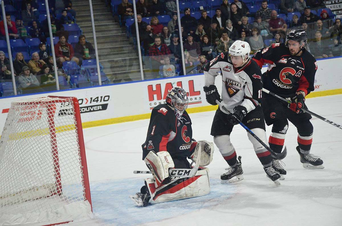 Vancouver Giants vs Prince George, WHL action at Langley Events Centre Jan. 1 Vancouver's Owen Hardy Gary Ahuja Langley Times