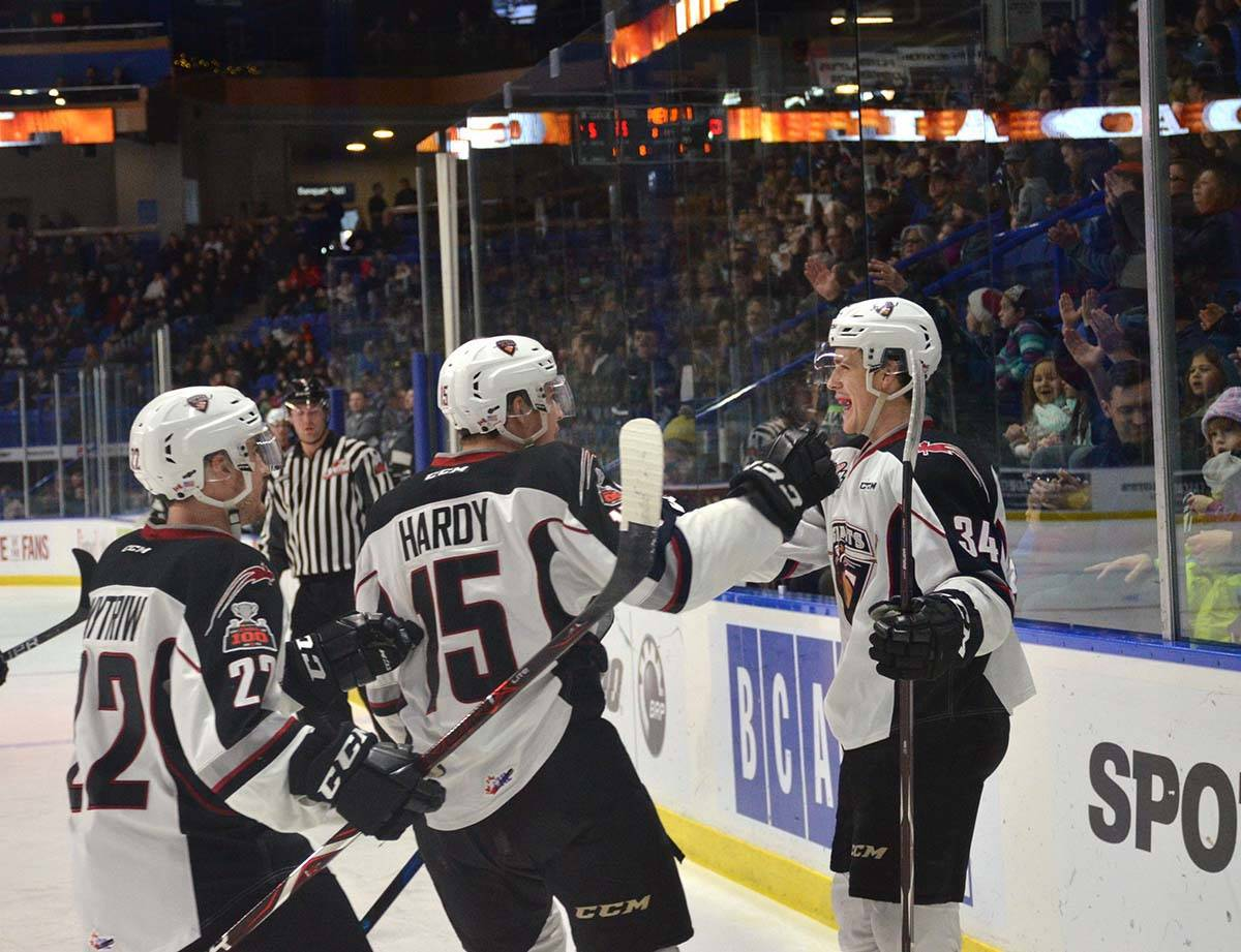 Vancouver Giants vs Prince George, WHL action at Langley Events Centre Jan. 1 Brayden Watts opened the scoring for Vancouver. Gary Ahuja Langley Times