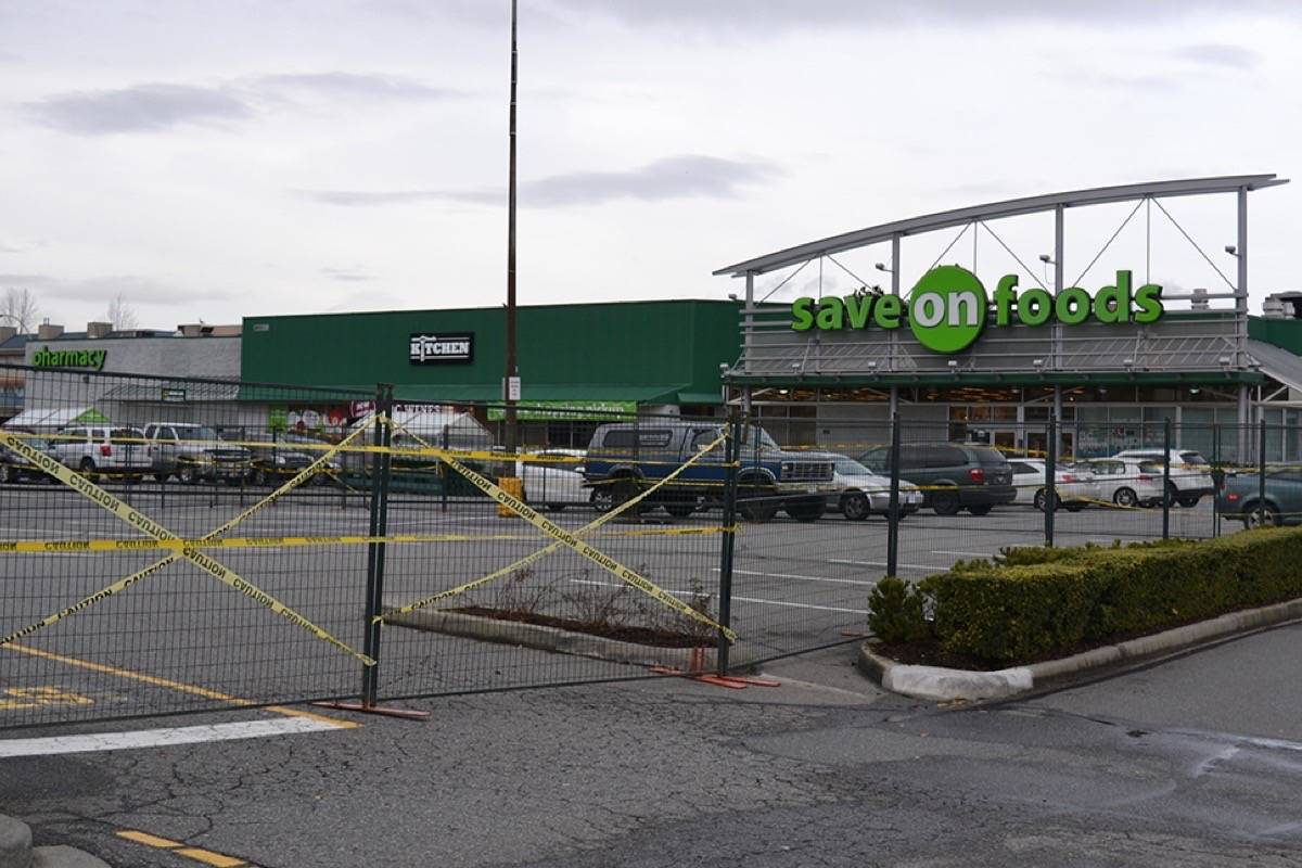City mall fenced off to make way for new bank